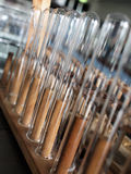 Test tubes. In rack in a laboratory Stock Images