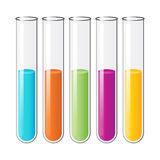 Test tubes. Laboratory test tubes on white background Stock Photo