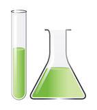 Test tubes. Laboratory test tubes on white background Stock Images