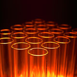 Test Tubes. Closeup in laboratory setting Stock Image