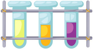 Test tubes. Illustration of isolated test tubes in science  lab Royalty Free Stock Photography