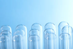 Test tubes. Many inverted Test tubes Stock Photos