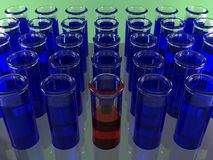 Test tubes royalty free stock image