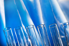 Test tubes. Aligned in a chemistry lab Royalty Free Stock Image