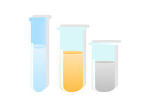 Test tubes. On isolated background royalty free illustration