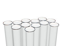 Test tubes. Empty test tubes over white Royalty Free Stock Photography