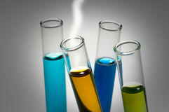 Test tubes. With toxic fluids inside Stock Image