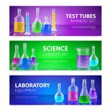 Test-Tubes Banners royalty free illustration