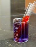 Test tubes in the beaker Stock Images