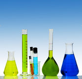 Test tubes and beakers Stock Image