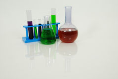 Test tubes and beakers Stock Images