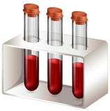 Test tubes with blood samples Stock Photography
