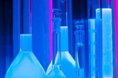 Test tubes in blue light Stock Image