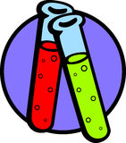 test tubes with chemicals vector illustration Stock Image