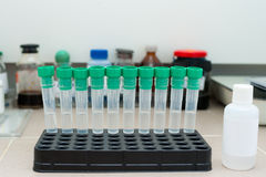 Test tubes at clinic laboratory Stock Photos