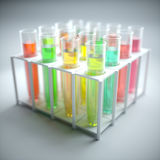 Test Tubes Colored Liquid Royalty Free Stock Photos