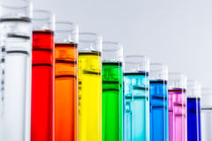Test tubes. With colorful chemicals Royalty Free Stock Photography