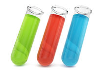 Test tubes with colorful liquid Stock Photography