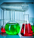 Test tubes with colorful liquids Stock Photo
