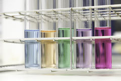 Test tubes. With colorful liquids Stock Photo