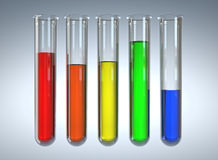Test tubes. 3d image of classic glass test tubes Royalty Free Stock Photography