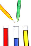 Test tubes and dropper Stock Image