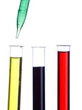 Test tubes and dropper Royalty Free Stock Photography