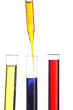Test tubes and dropper Stock Images