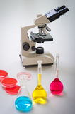 Test tubes filled Stock Images