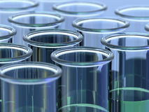 Test tubes with green liquid Royalty Free Stock Photos