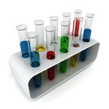Test tubes in holder Stock Images
