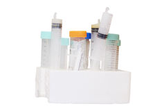 Test tubes. The image of test tubes in chemical-biological laboratory Stock Photos