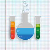 Test Tubes Infographic Checked Paper Royalty Free Stock Images