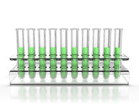 Test tubes isolated Royalty Free Stock Photography