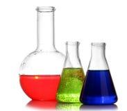 Test-tubes isolated. Laboratory glassware Royalty Free Stock Image