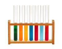 Test-tubes isolated on white. Laboratory glassware stock photos