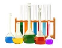 Test-tubes isolated on white. Laboratory glassware Royalty Free Stock Images