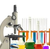 Test-tubes isolated on white. Laboratory glassware Royalty Free Stock Photos