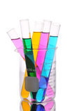 Test tubes in laboratory glass Royalty Free Stock Image