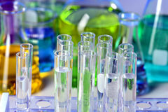 Test tubes in Laboratory Royalty Free Stock Image