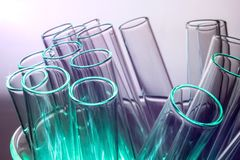 Test tubes in a laboratory stock photos