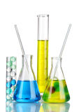 Test-tubes with liquid Royalty Free Stock Photo