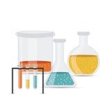 Test tubes. Over white background vector illustration vector illustration
