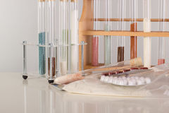Test tubes in a pharmaceutical laboratory Stock Photo