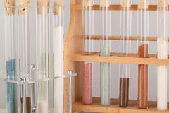 Test tubes in a pharmaceutical laboratory Royalty Free Stock Photos