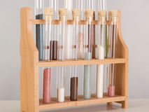 Test tubes in a pharmaceutical laboratory Stock Image