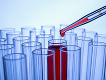 Test tubes and pipette Royalty Free Stock Images