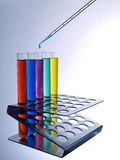Test tubes and pipette Stock Photos