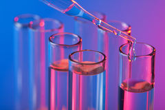 Test tubes and pipette Stock Photography