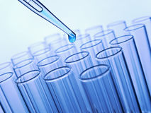 Test tubes and pipette Royalty Free Stock Photography